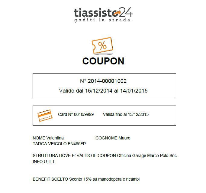 TiAssisto24_Coupon ricevuto