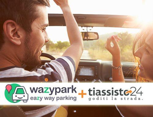tiassisto24 e wazypark insieme per semplificare la vita degli automobilisti italiani